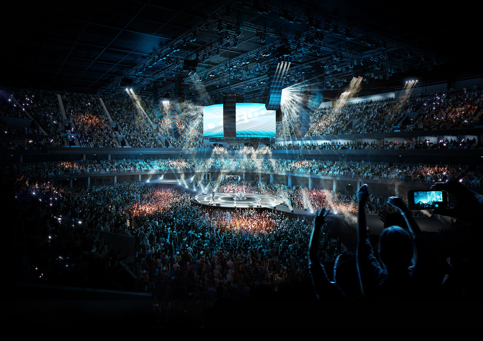 Laudation working with Oak View Group for 1st UK Arena